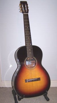 Bernard hoskin guitars a reproduction of a martin 00 16 new yorker which was originally a classical guitar that was strengthened to take steel strings sciox Gallery